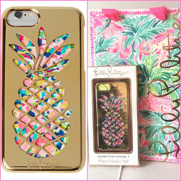 best service 55bd6 de93f SALE! Lilly Pulitzer iPhone7 Case Pina Colada Club